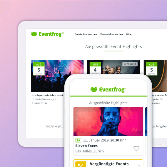 Eventfrog Highlight Kombi mit Web und App