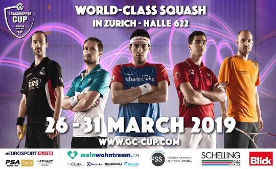 SQUASH - GRASSHOPPER CUP 2019 1st Round (FREE Entry) Squash Arena Uster Tickets